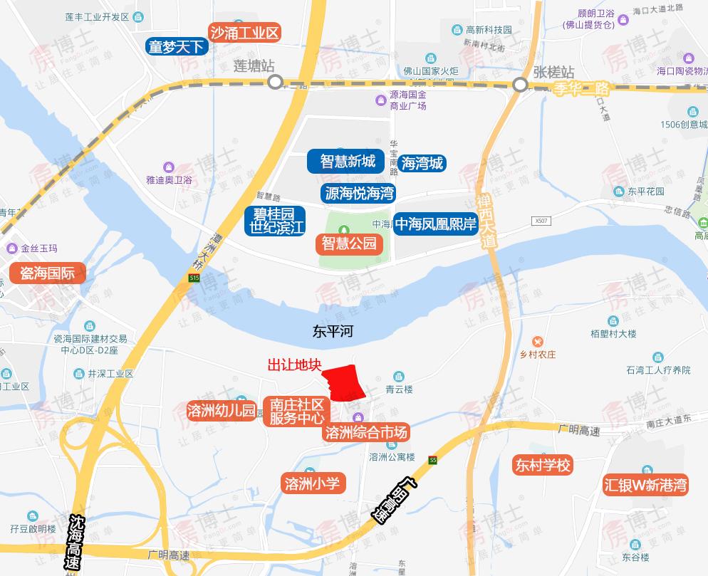 6719元/m²!金地底价竞得南庄2.9万㎡江景靓地