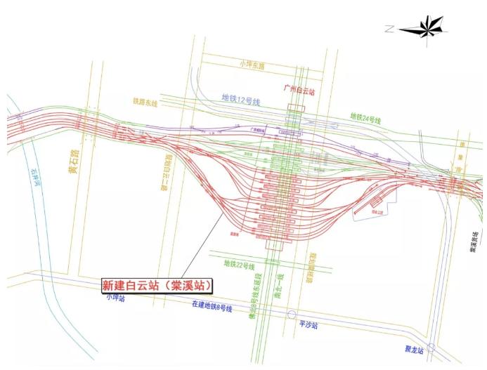 6条地铁线路!广州棠溪火车站明年动工 周边一手图片